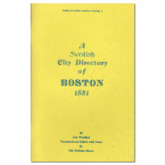 A Swedish City Directory of Boston, 1881