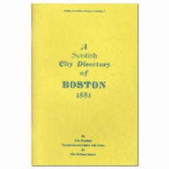 A Swedish City Directory of Boston, 1881
