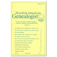 Swedish American Genealogist