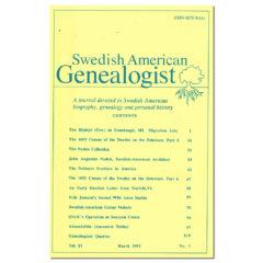 Swedish American Genealogist