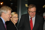 Ambassador Björn Lyrvall (left), and SAHS board members Anne-Charlotte Harvey, and Dag Blanck